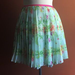 BAKER by Ted Baker Mini Skirt Mint Floral XS /12
